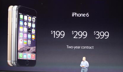 Iphone6 cost