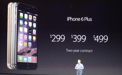 Iphone6 plus cost