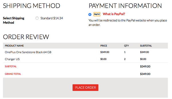 Oneplus one place order
