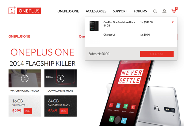 Oneplus one cart